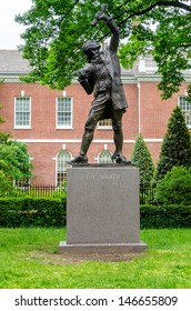 PHILADELPHIA - CIRCA MAY 2013: The Signer Statue, Philadelphia, USA, circa May 2013. The Statue stands in Signer's Park and it was given to the National Park by the Independence Hall Association, 1982