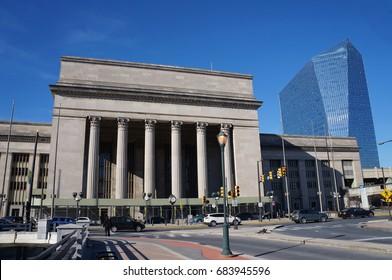 Philadelphia - February 17, 2016: Philadelphia Central Station on February 17, 2016.