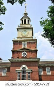 Philadelphia Independence Hall where the continental congress met and signed the declaration of independence