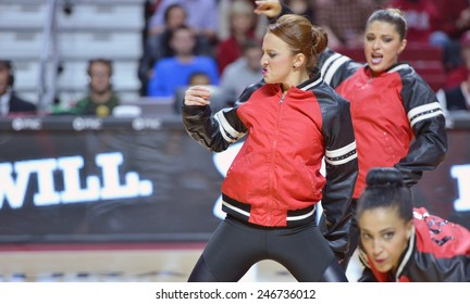 PHILADELPHIA - JANUARY 22: The Temple Diamond Gems dance team performs during the AAC conference college basketball game January 22, 2015 in Philadelphia.