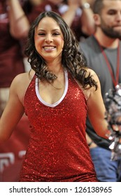PHILADELPHIA - JANUARY 23 : A member of the Temple Diamond Gems dance team performs prior to an Atlantic 10 conference basketball game against Penn January 23, 2013 in Philadelphia.
