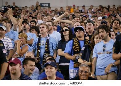 PHILADELPHIA - JULY 21 : fans of  Philadelphia Union during match against Manchester United on July 21, 2010 in Philadelphia.