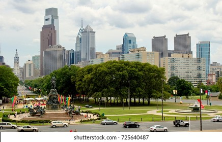 Philadelphia is the largest city in the Commonwealth of Pennsylvania and the sixth-most populous city in the United States, USA, Auguste 3, 2017, Center city