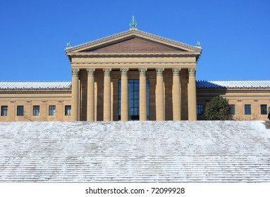 Philadelphia Museum of Art after a snow fall