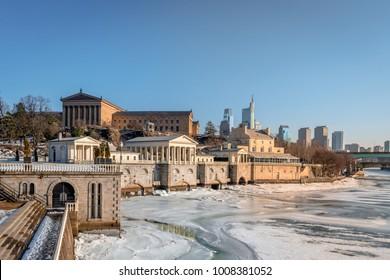 Philadelphia Museum of Art in the winter