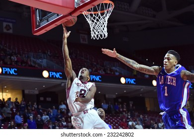 PHILADELPHIA - NOVEMBER 17: Temple Owls guard Will Cummings (2) shoots a lay-up during the NCAA basketball game November 17, 2014 in Philadelphia.