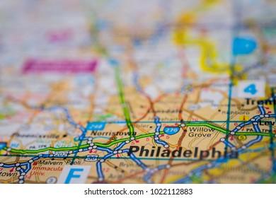 Map City Philadelphia Images Stock Photos Vectors Shutterstock - Philadelphia usa map