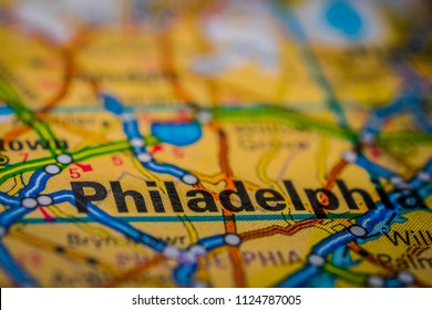 Philadelphia on USA map