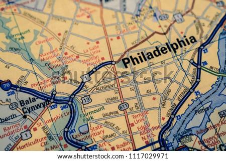 Philadelphia On Usa Map Stock Photo Edit Now 1117029971 Shutterstock