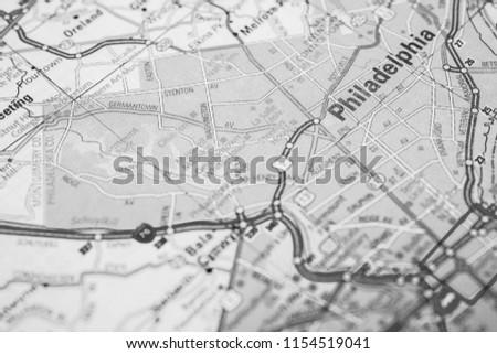 Philadelphia On Usa Map Stock Photo Edit Now 1154519041 Shutterstock