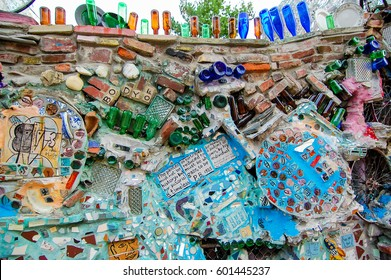 PHILADELPHIA, PA - CIRCA AUGUST 2014: Philadelphia´s Magic Gardens in South Street is a gallery space created by mosaic artist Isaiah Zagar and one of the mayor attraction of Philadelphia.