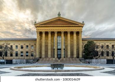 PHILADELPHIA, PA - FEBRUARY 14, 2018: Art Museum Philadelphia is an art museum originally chartered in 1876 for the Centennial Exposition in Philadelphia