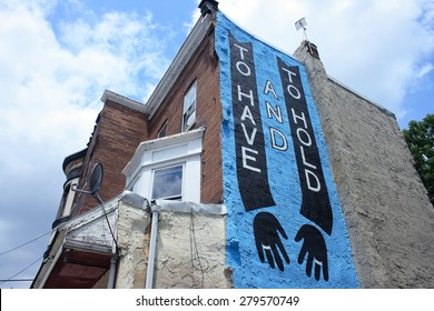 PHILADELPHIA, PA - JUNE 13: Mural painted on the wall of a building in Philadelphia, PA on June 13, 2011.