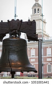 Philadelphia, PA - March 5 2009: The Liberty Bell, an iconic symbol of American independence, locate in Philadelphia, Pennsylvania.