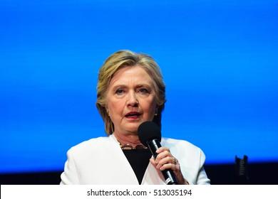PHILADELPHIA, PA- NOVEMBER 5 2016: Singer Katy Perry appeared on behalf of Hillary Clinton in Philadelphia's Mann Center