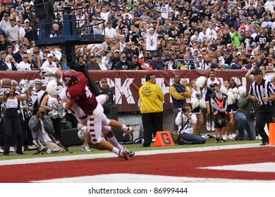 PHILADELPHIA, PA. - SEPTEMBER 17: Penn State receiver Derek Moye has the ball pushed away during a game on September 17, 2011 at Lincoln Financial Field in Philadelphia, PA.