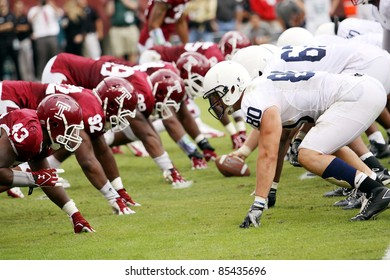 PHILADELPHIA, PA. - SEPTEMBER 17: Temple's Adrian Robinson (No. 43) and the rest of the line look to stop Penn State on September 17, 2011 at Lincoln Financial Field in Philadelphia, PA.