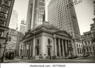 Philadelphia, Pa. USA, Jan. 2nd, 2016: center city buildings in Philadelphia. Jan. 2nd, 2016 in Philadelphia, Pa. USA.