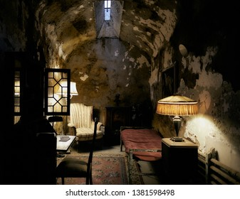 Philadelphia, PA/USA - December 1, 2018: Eastern State Penitentiary - Al Capone's Room