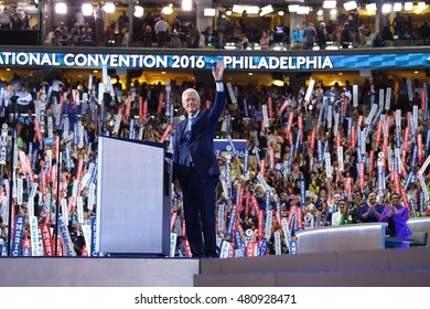 Philadelphia, PA/USA July 26, 2016: United States President William Clinton addresses the Democratic National Committee Convention.