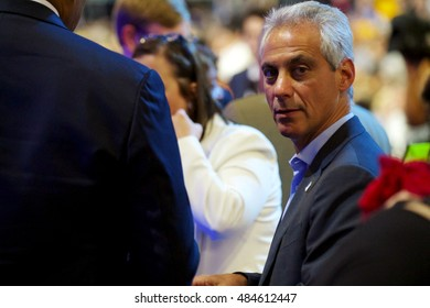 Philadelphia, PA/USA - July 28, 2016:  Chicago Mayor Rahm Emanuel was one of the thousands of attendees at the Democratic National Convention.