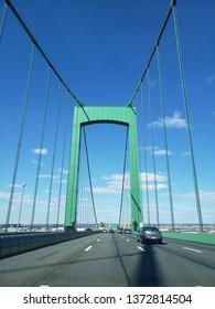 Philadelphia, PA/USA - March 16, 2019: Walt Whitman Bridge