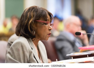 Philadelphia, PA/USA - September 12, 2019: City Councilwoman Blondell Reynolds Brown speaks during a session of Philadelphia City Council