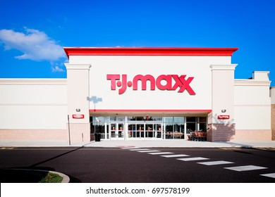 Philadelphia, Pennsylvania - Aug 16, 2017: TJ-maxx store