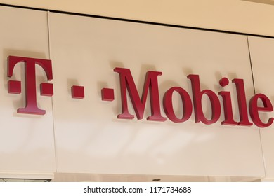 Philadelphia, Pennsylvania, August 30, 2018:T-Mobile USA, a subsidiary of T-Mobile International AG, is one of the four national wireless carriers.