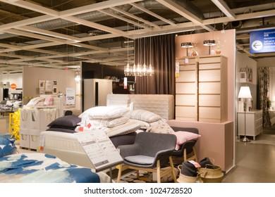 Philadelphia Pennsylvania February 10, 2018: A Sample Of The Interior In  IKEA Store,