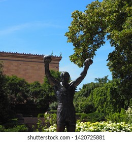 Philadelphia, Pennsylvania - June 9th, 2019: Rocky Statue