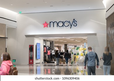 Philadelphia, Pennsylvania, May 19 2018: Macy's is a department store company.