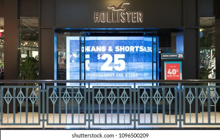 Philadelphia, Pennsylvania, May 19 2018: Hollister store front