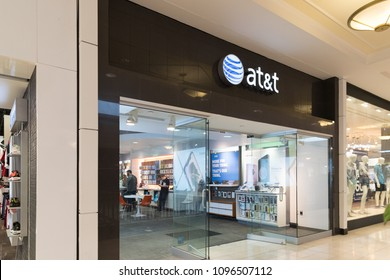 Philadelphia, Pennsylvania, May 19 2018:  AT&T Retail Store. AT&T Inc. is an American Telecommunications Corporation IX