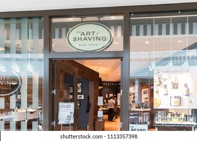 Philadelphia, Pennsylvania, May 19 2018: Founded in 1996, The Art of Shaving™ is considered the world's leading premium shaving brand with its aromatherapy-based grooming products.