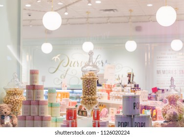 Philadelphia, Pennsylvania, May 21, 2018:Candy store in Prussia Mall