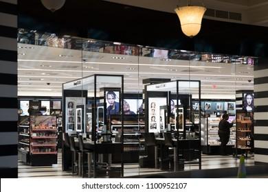 Philadelphia, Pennsylvania, May 21 2018:Sephora makeup store front