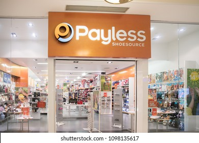 Philadelphia, Pennsylvania, May 21 2018:Shoppers visit Payless Shoesource footwear store