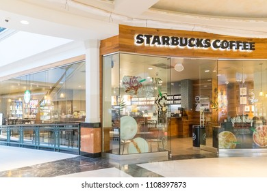 Philadelphia, Pennsylvania - May 30, 2018: Starbucks Coffee is an American chain of coffee shops, founded in Seattle.
