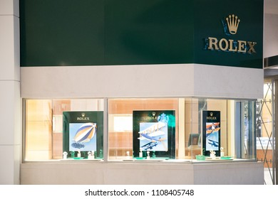 Philadelphia, Pennsylvania - May 30, 2018: Rolex store at Philadelphia. Rolex SA is a Swiss luxury watchmaker. It is the largest single luxury watch brand, producing about 2,000 watches per day.