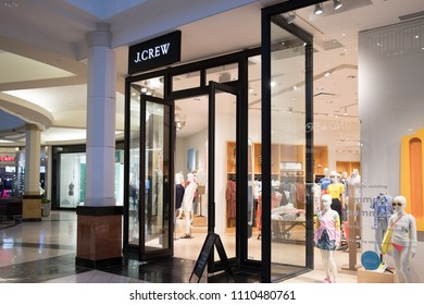 Philadelphia, Pennsylvania, May 30 2018: J.Crew fashion store in Philadelphia. J.Crew is a multi-brand store chain with more than 500 locations.