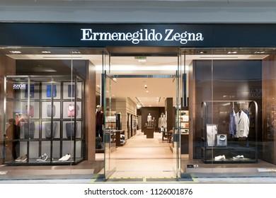 Philadelphia, Pennsylvania, May 30, 2018: Ermenegildo Zegna store front