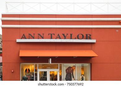 Philadelphia, Pennsylvania November 4 2017: Ann Taylor Factory Store