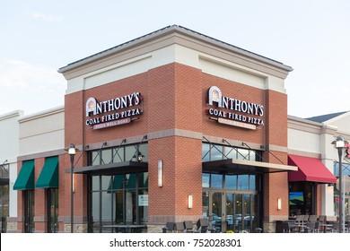 Philadelphia, Pennsylvania - November 6, 2017: Anthony's coal fired pizza restaurant