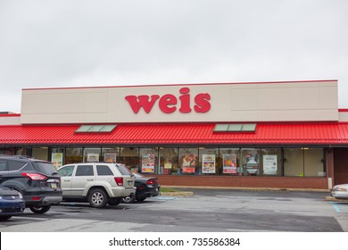 Philadelphia, Pennsylvania - October 16, 2017: Exterior of a Weis Market. a chain of grocery stores in over 200 locations.