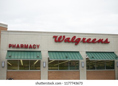 Philadelphia, Pennsylvania, September 8, 2018:Walgreens store exterior and sign. Walgreens is the largest drug retailing chain in the United States.