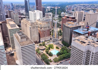 Philadelphia, Pennsylvania in the United States. Aerial view of the city.