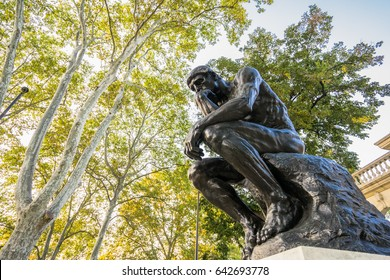 Philadelphia, Pennsylvania, USA - 16 October, 2016: The Rodin Museum is an art museum that contains the largest collection of sculptor Auguste Rodin's works outside Paris.