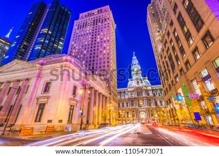 Philadelphia Pennsylvania USA cityscape