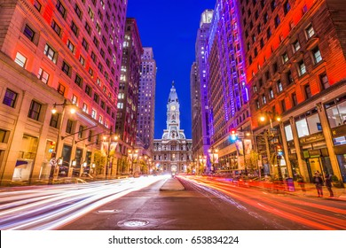 Philadelphia, Pennsylvania, USA downtown at city hall.